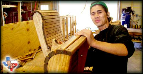 Sawdust and Splinters builds every piece of furniture in Gatesville, Texas U.S.A.