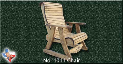 Item 1011 Chair, Outdoor Wood Furniture from Sawdust and Splinters. Made in Gatesville, Texas USA!